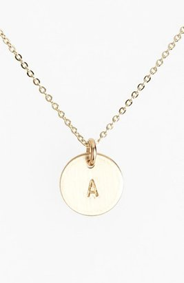 Women's Nashelle 14K-Gold Fill Initial Mini Circle Necklace $60 thestylecure.com