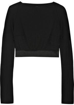Roland Mouret Cropped crepe-jersey top