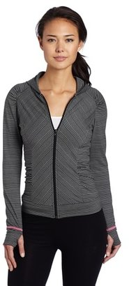 So Low SOLOW Women's Stripe Raglan Hoodie