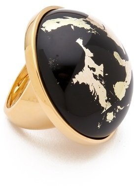 Kenneth Jay Lane Button Ring