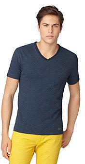 Calvin Klein Jeans Men's Short Sleeve Slub V-Neck Tee