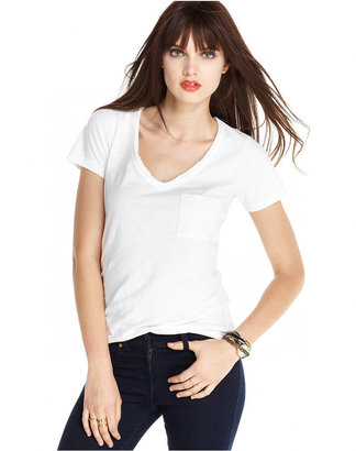 Maison Jules V-Neck Pocket T-Shirt $19.50 thestylecure.com