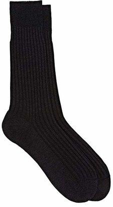 Barneys New York Men's Rib-Knit Mid-Calf Socks $31 thestylecure.com