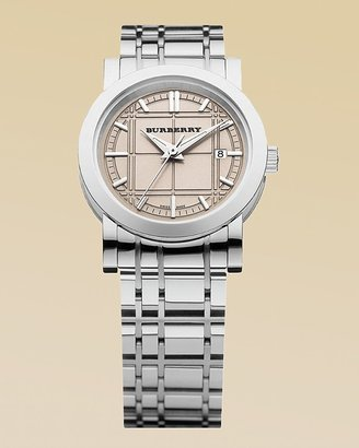 Burberry Classic Round Timepiece with Rose Dial