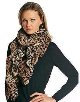 Cejon Leopard Soft Touch Ruffle Muffler