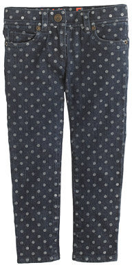 J.Crew Girls' toothpick jean in graphic dot