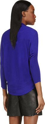 Lanvin Royal Blue Cocoon Wrap Cardigan