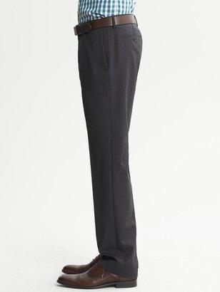 Banana Republic Tailored Slim-Fit Charcoal Striped Wool Dress Pant