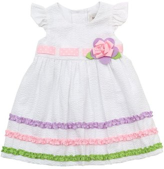 Rare Editions ruffled seersucker dress - toddler