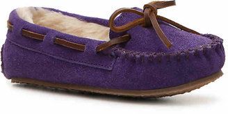 Minnetonka Girls Cassie Toddler & Youth Moccasin -Hot Pink