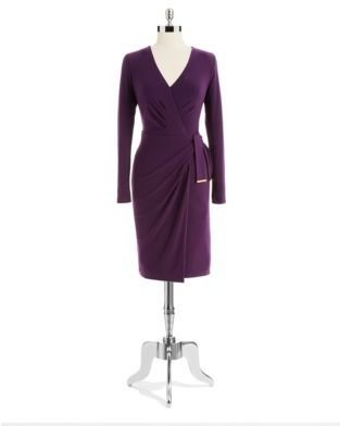 Jones New York Long Sleeved Wrap Dress
