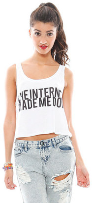 Singer22 Fresh Tops The Internet Made Me Do It Crop Tank in White