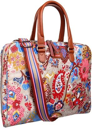 Oilily 15 Winter Leaves Laptop Bag (Sand) - Bags and Luggage