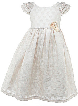 Laura Ashley London 2T-6X Jacquard Dotted Dress