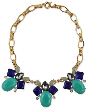 Slate & Willow Accessories Budding Blue Statement Necklace