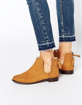 Asos A MOMENT TO THINK Stud Tassel Ankle Boots