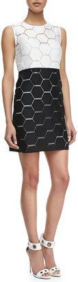Milly Eloise Hexagon Shift Dress