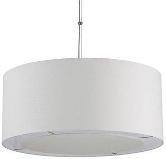 Crate & Barrel Finley Large White Pendant Light