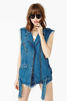 Nasty Gal Badlands Denim Vest