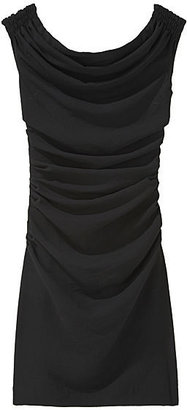 Helmut Lang Dry Crepe Ruched Dress