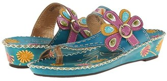 L'Artiste by Spring Step Santorini (Brown Leather) Women's Sandals