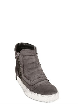 Bruno Bordese 20mm Quilted Suede Sneakers