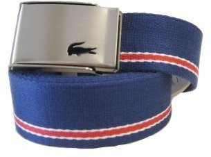 Lacoste Men's L!VE Poly Woven Belt With Single Stripe