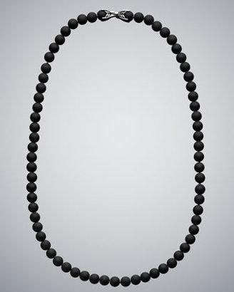 David Yurman Black Onyx Spiritual Bead Necklace