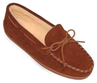 Minnetonka Men's Pile Lined Hardsole Slippers -XL