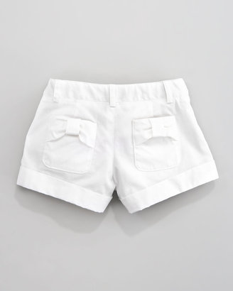 Milly Minis Bow-Pocket Shorts, Sizes 8-10