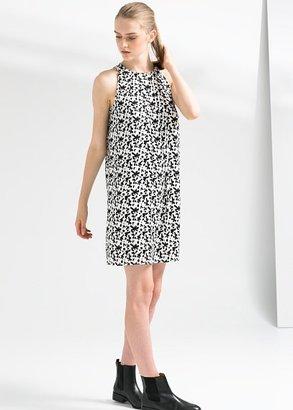 MANGO Monochrome Print Dress