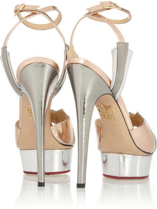 Charlotte Olympia Decodent metallic leather sandals