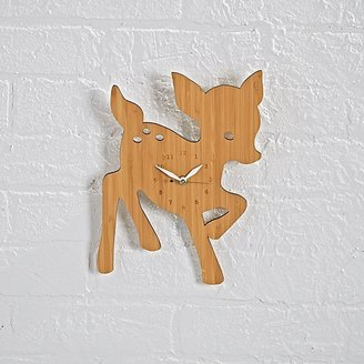 Fawn On Forest Time Wall Clock $68 thestylecure.com