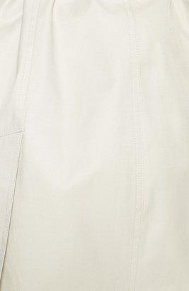 MICHAEL Michael Kors Asymmetric Zip Belted Trench