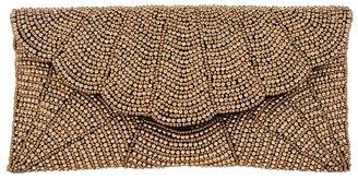 Ricky Designs Scallop Beadwork Clutch