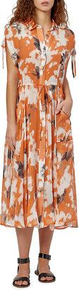 Equipment Didier Printed Silk Midi Dress