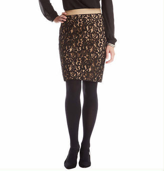 LOFT Petite Curvy Fit Lace Pencil Skirt