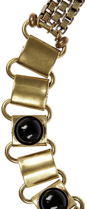 Isabel Marant Town gold-tone agate necklace