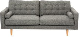 Vue Hugo 3 Seater Sofa in Charcoal Fabric