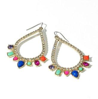 Vera Wang Princess gold tone simulated crystal teardrop earrings