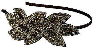 Elle Gold/Bronze Beaded Applique Headband