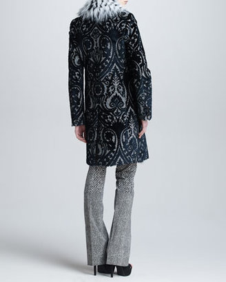 Roberto Cavalli Coat with Fox Fur Collar