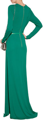 Elie Saab Jersey Gown with Side Slit