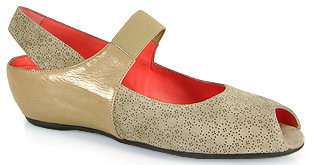 Pas De Rouge Silvia Punched - Peep-Toe Wedge