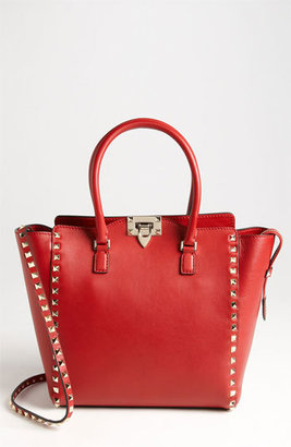 Valentino 'Rockstud' Double Handle Leather Tote