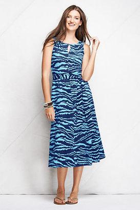 Lands' End Women's Knit Keyhole A-line Dress