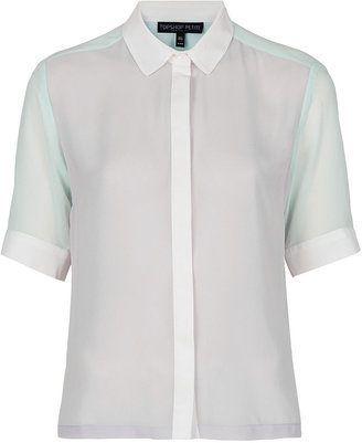 Topshop Petite 3 Colour Block Shirt