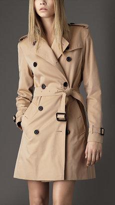 Burberry Mid-Length Cotton Gabardine Trench Coat