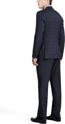 HUGO BOSS James/Sharp Plaid Suit, Blue