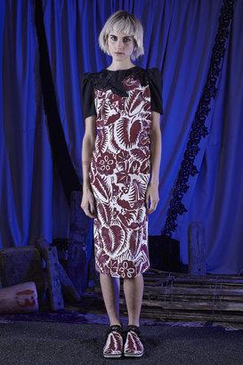 Marc Jacobs Un-Named Floral Print Short-Sleeved Sheath Dress